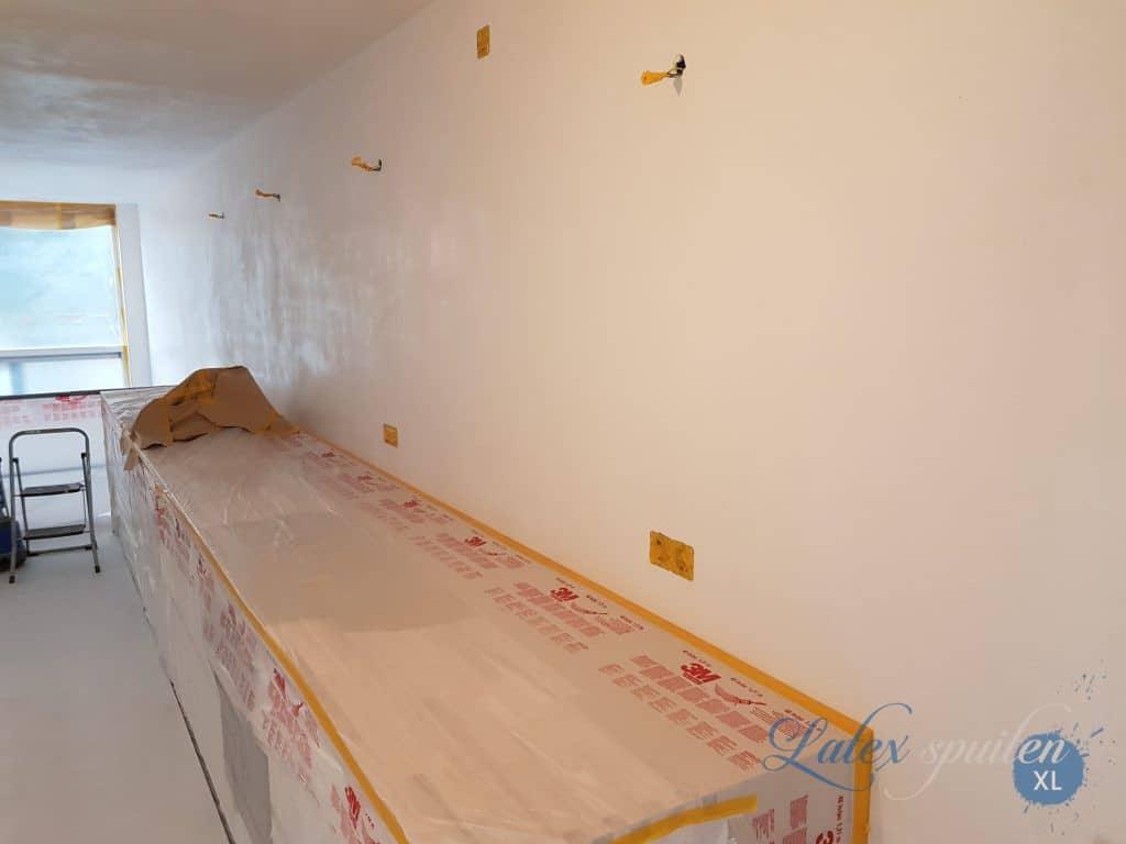 Plafond en wanden spuiten